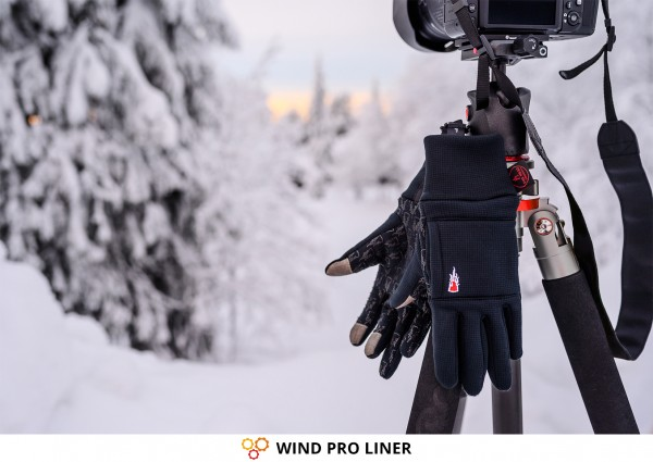 Warm Photography Gloves for Winter: WIND PRO LINER from THE HEAT COMPANY