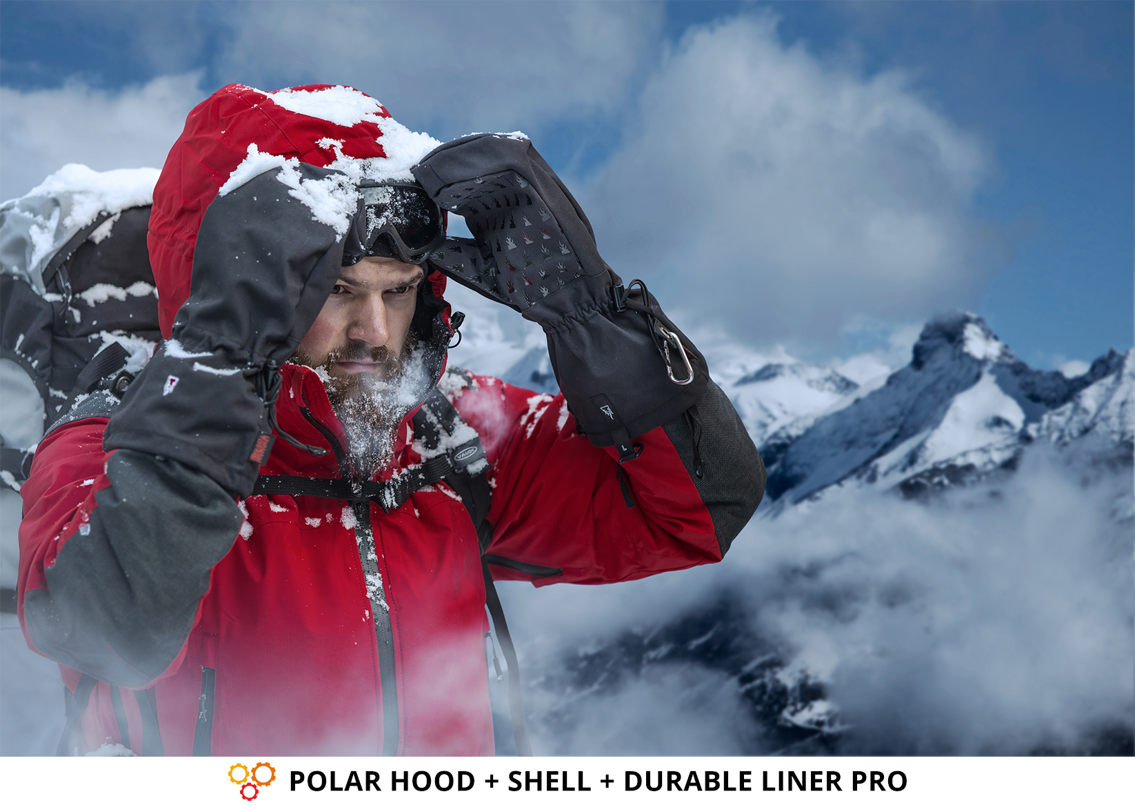Photography Gloves for Extreme Cold: POLAR HOOD + SHELL + DURABLE LINER PRO from THE HEAT COMPANY