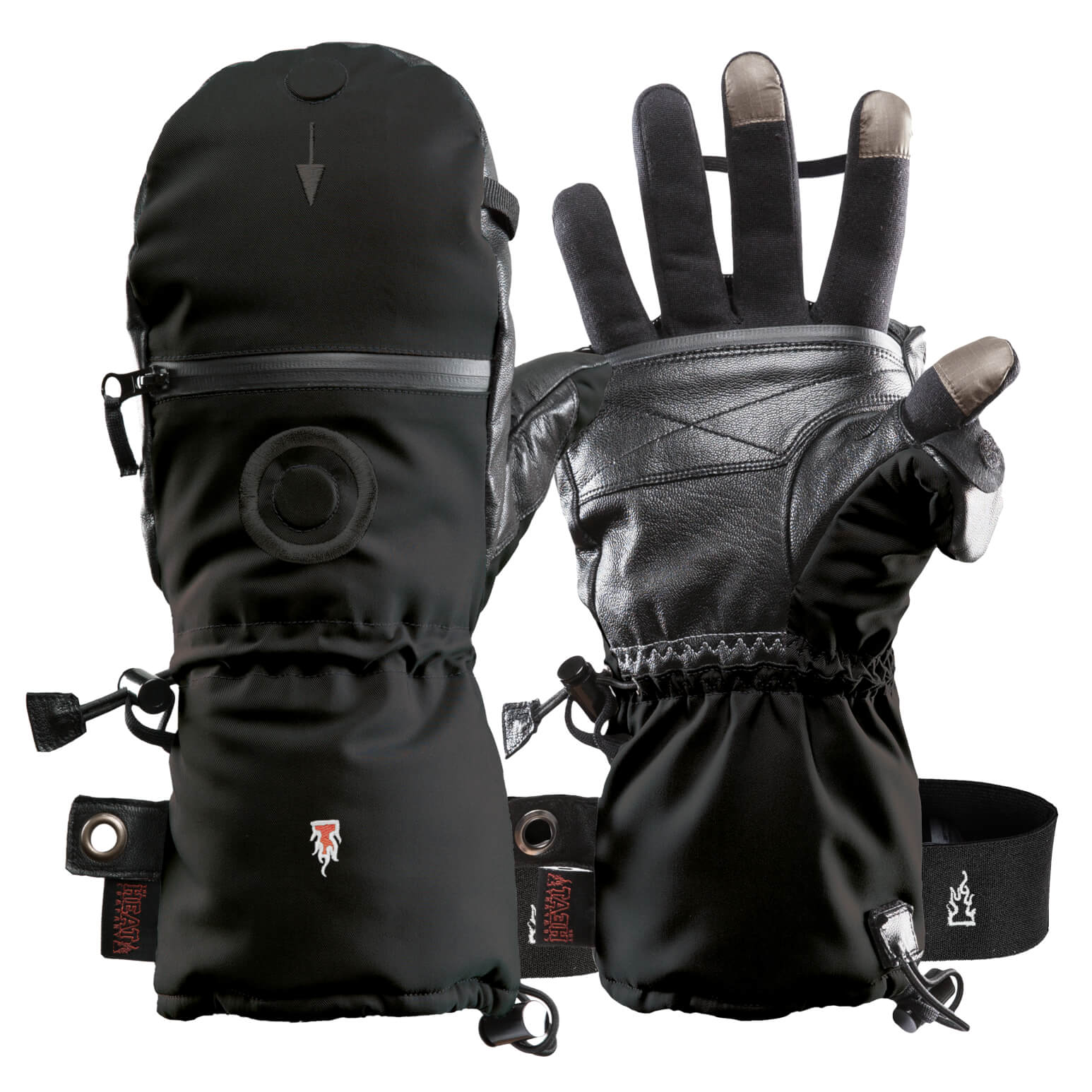 Mens Black Combo Shooter Mitts Gloves