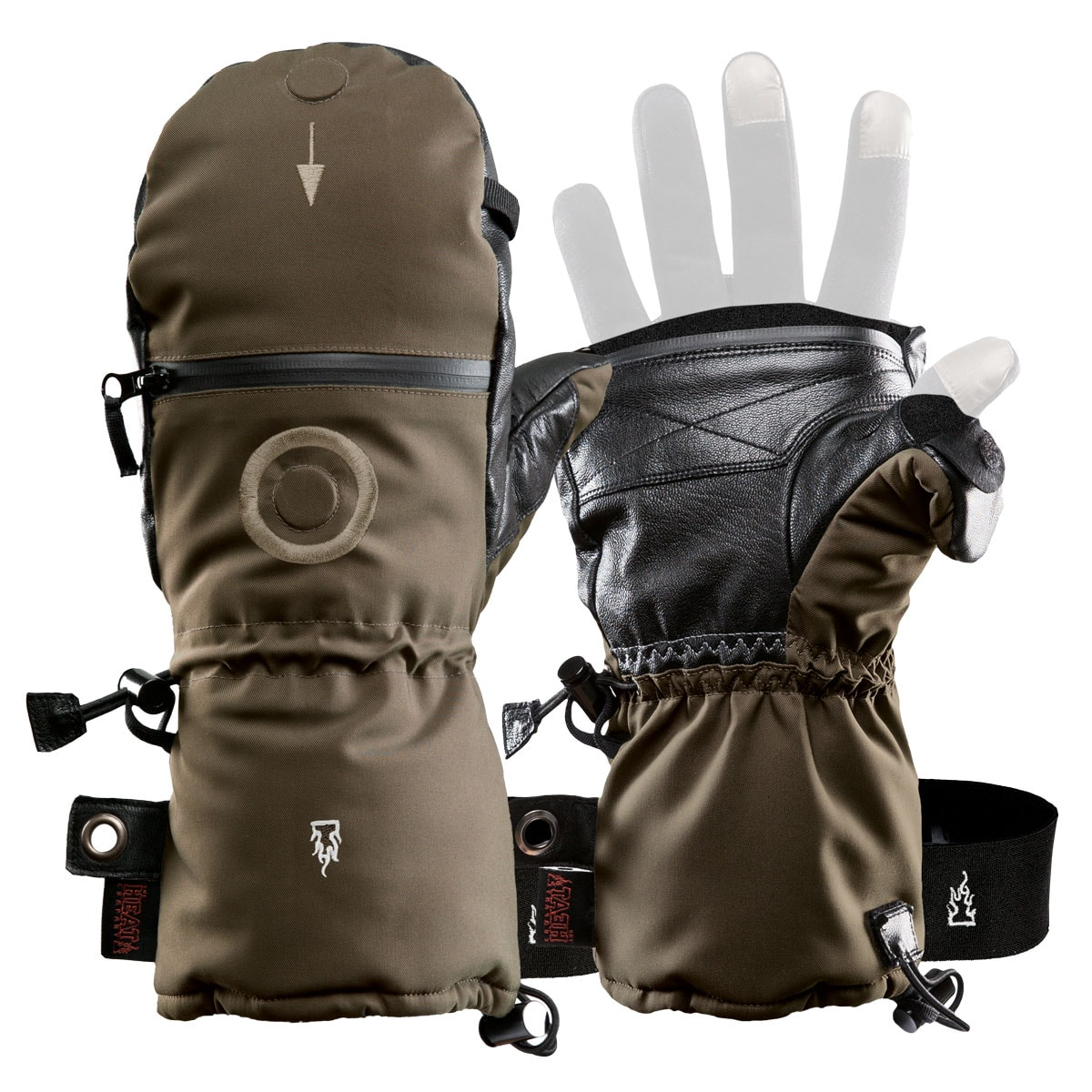 Bekleidung Handschuhe Palm Neo Touring Mitts Schwarz