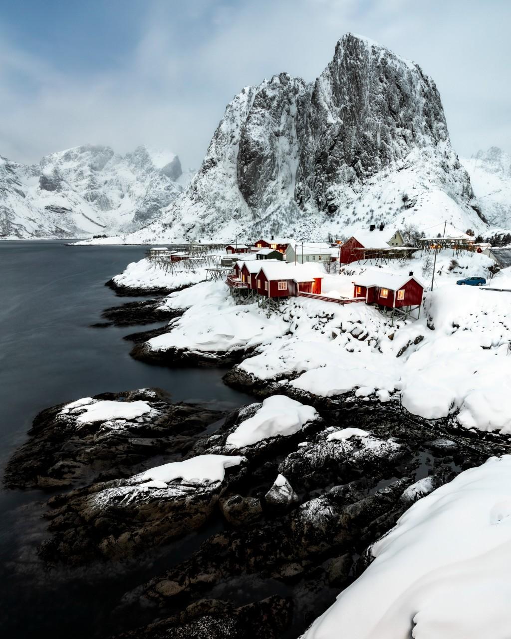 The village Reine on the Lofoten Islands in Norway