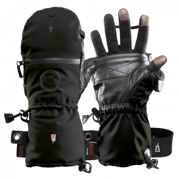 Photography Gloves HEAT 3 SMART with Integrated Gloves and Mittens from THE HEAT COMPANY