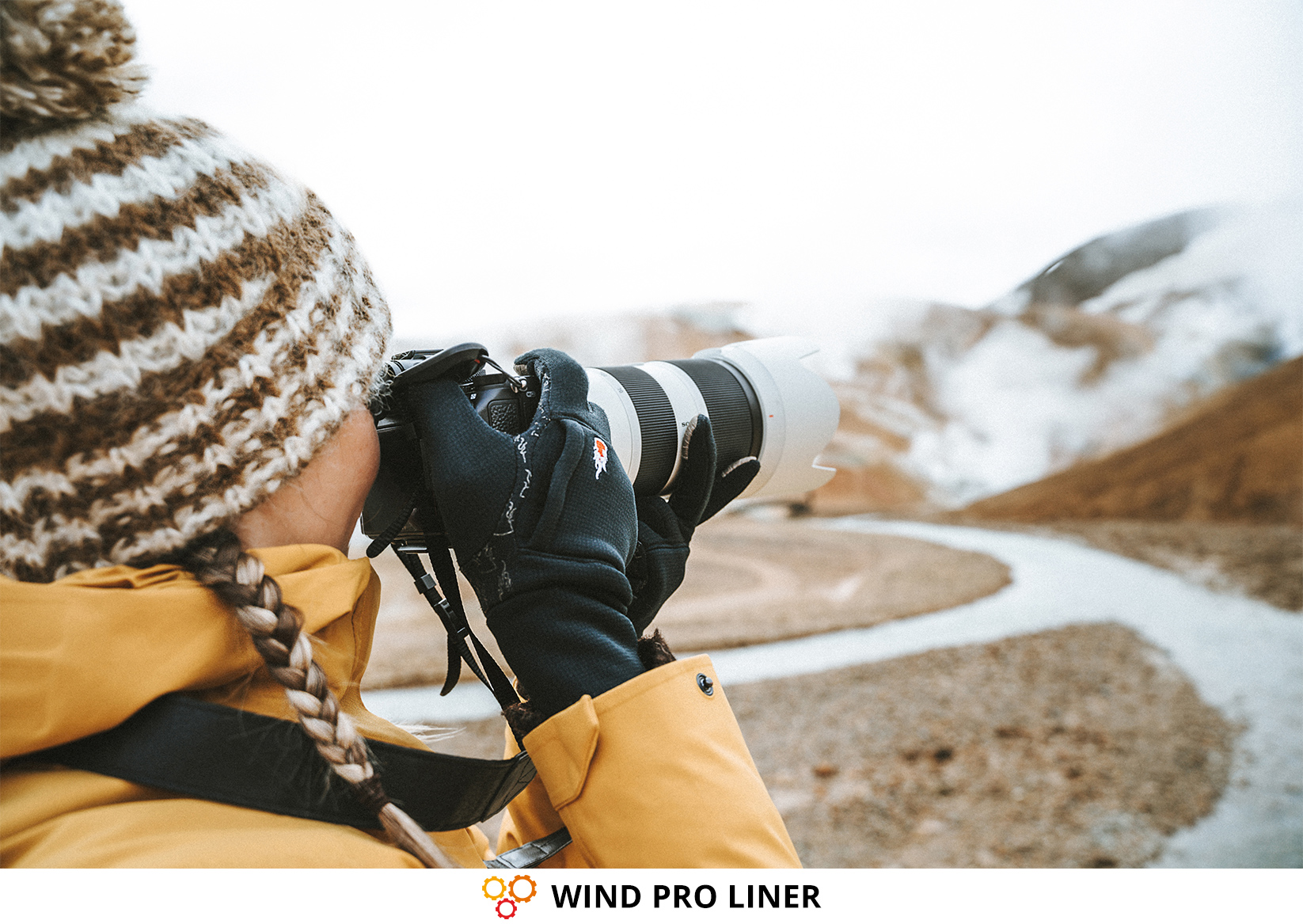 Photographe & gants photo WIND PRO LINER de THE HEAT COMPANY
